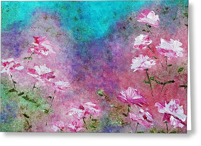 Claire Bull Greeting Cards - Rose Garden Greeting Card by Claire Bull