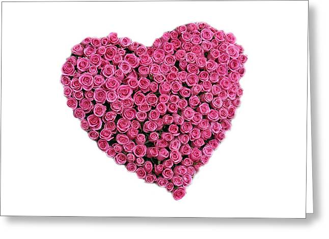 Romanticism Greeting Cards - Rose Heart Greeting Card by Michael Ledray