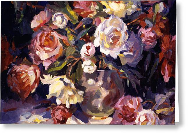 Rose Impressions Greeting Card by David Lloyd Glover