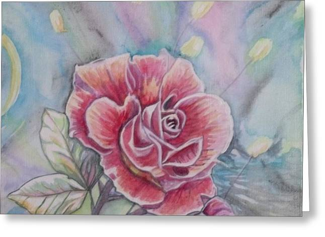 Rose Greeting Card by Laura Laughren