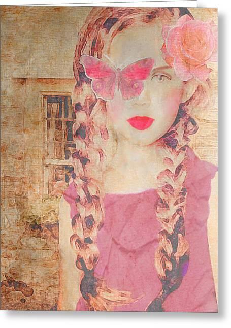Rose Greeting Card by Lisa Noneman