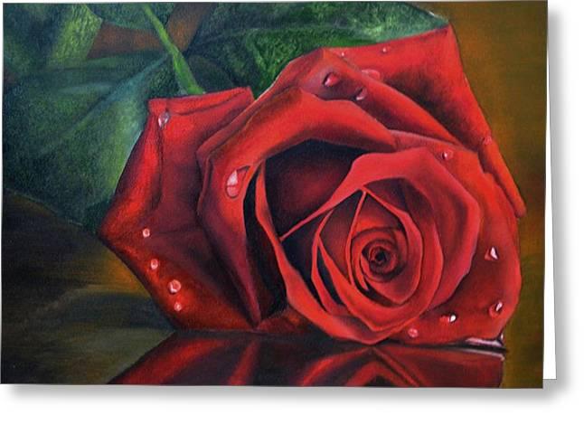 Rose Love Greeting Card by Deepak Deshmukh