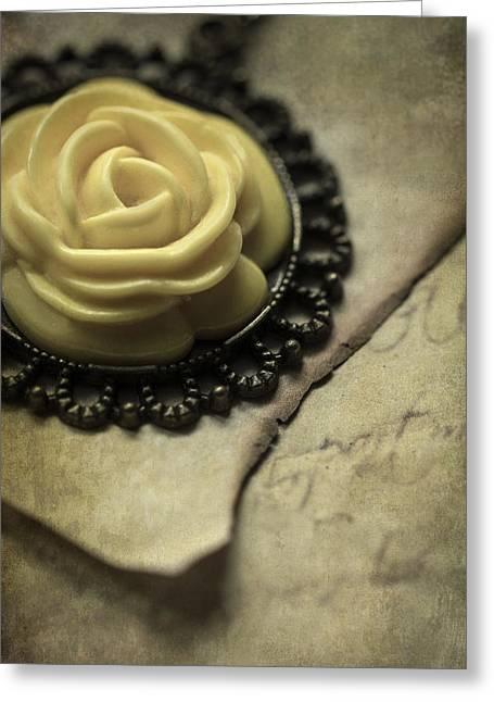 Rose Pendant Greeting Card by Jaroslaw Blaminsky