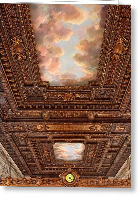 Rose Reading Room Ceiling Greeting Card by Jessica Jenney