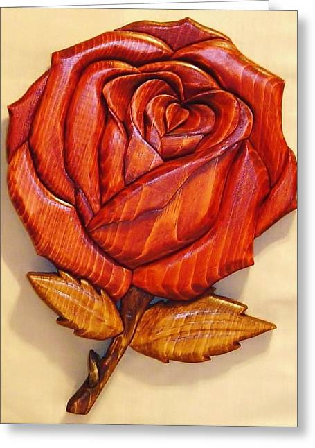 Roses Sculptures Greeting Cards - Rose Greeting Card by Russell Ellingsworth