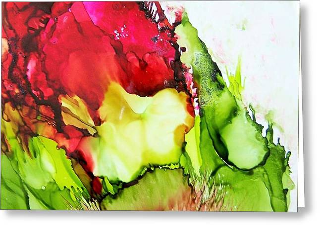 Abstract Ceramics Greeting Cards - Rose Greeting Card by Sherri Patterson