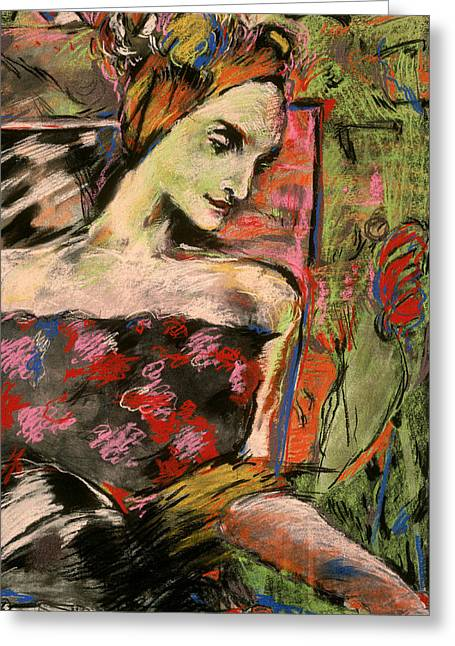 Roselady Greeting Card by Mykul Anjelo