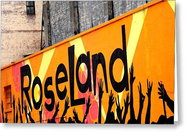 Roseland Greeting Card by Paulo Guimaraes