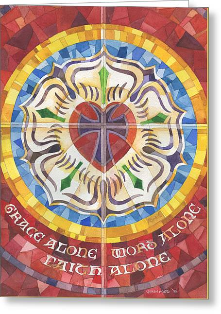 Confirmation Greeting Cards - Rosemarie Greeting Card by Mark Jennings