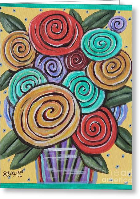 Roses 1 Greeting Card by Karla Gerard