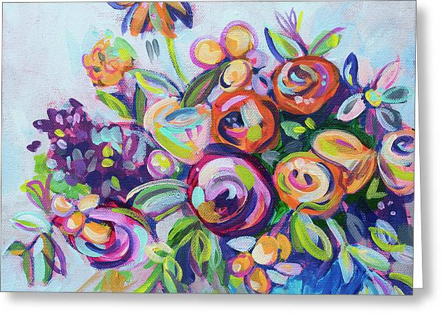 Roses And Kumquats Greeting Card by Kristin Whitney