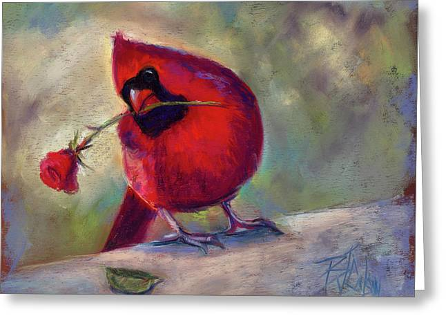 Roses Are Red And So Am I  Greeting Card by Billie Colson