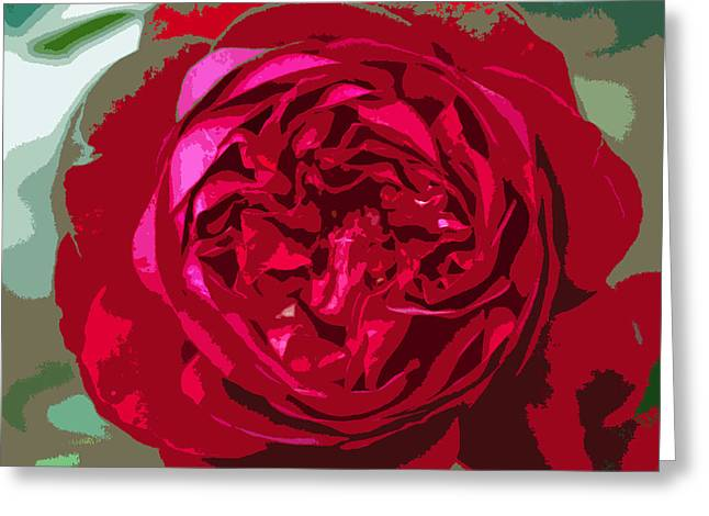 Dressing Room Greeting Cards - Roses Are Red Greeting Card by Roselynne Broussard