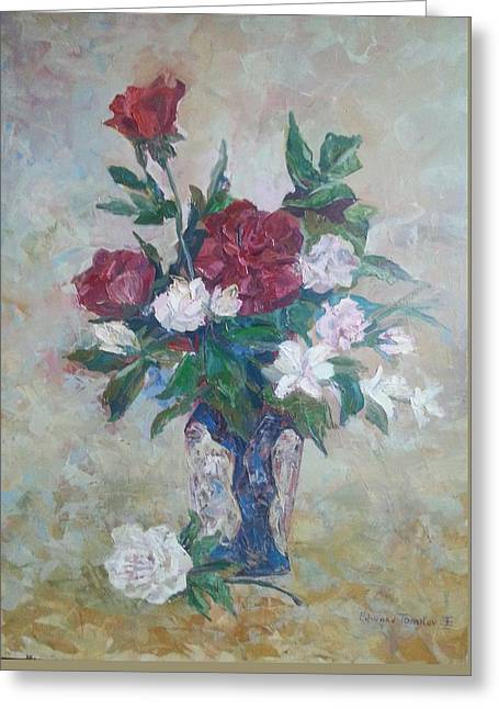 Give Me Flowers Greeting Cards - Roses Greeting Card by Edward Tomilov