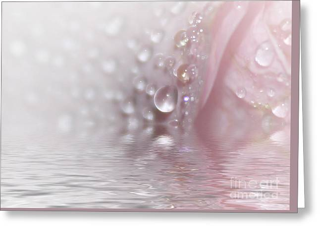 Roses In The Water Greeting Card by SK Pfphotography