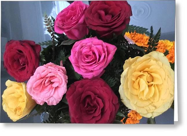 Roses Greeting Card by Jagjeet Kaur