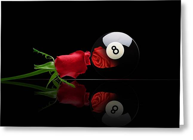 Billiards Digital Greeting Cards - Rosey8 Greeting Card by Draw Shots