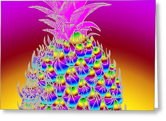 Rosh Hashanah Pineapple Greeting Card by Eric Edelman