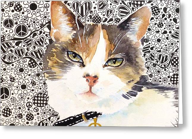 Rosie Greeting Card by Renata Wright