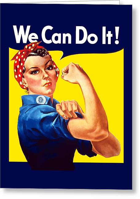 Political Greeting Cards - Rosie The Rivetor Greeting Card by War Is Hell Store
