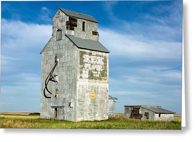 Ross Fork Grain Elevator Greeting Card by Todd Klassy