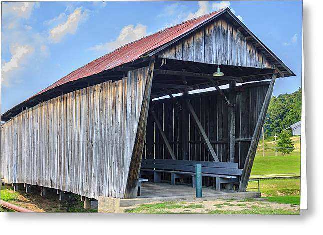 Rosseeau/fairgrounds Covered Bridge Greeting Card by Jack R Perry