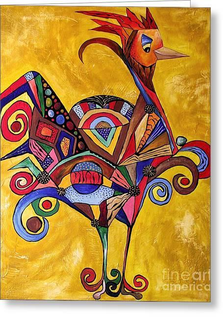 Subtle Colors Greeting Cards - Rooster 875-05-2015 Greeting Card by Marek Lutek