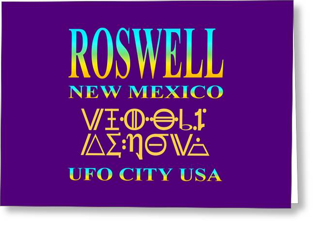 T Shirts Tapestries - Textiles Greeting Cards - Roswell New Mexico Greeting Card by Art America - Art Prints - Posters - Fine Art