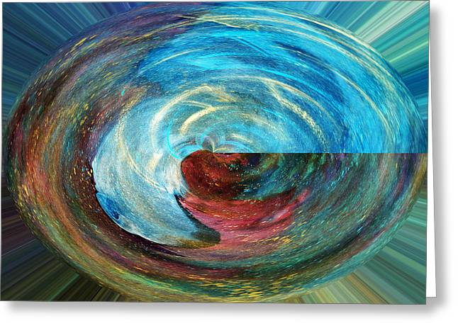 Rotation Paintings Greeting Cards - Rotation Greeting Card by Karen Wood