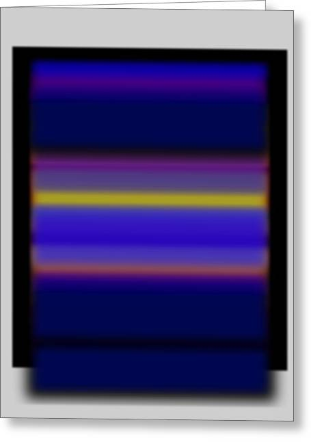 Rainbow Greeting Cards - Rothko Tv Greeting Card by Charles Stuart