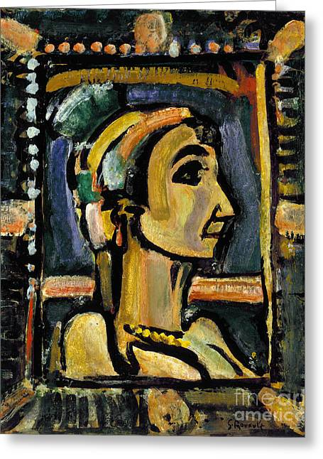 1930s Portraits Greeting Cards - Rouault: Circus Girl Greeting Card by Granger