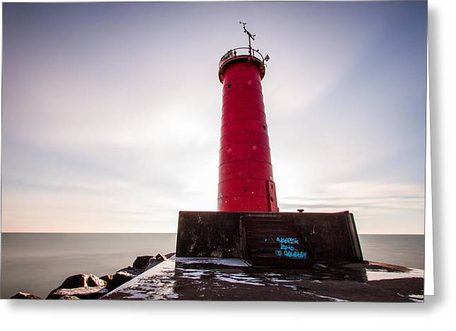 Lake Michigan Greeting Cards - Rouge Greeting Card by Daniel Chen