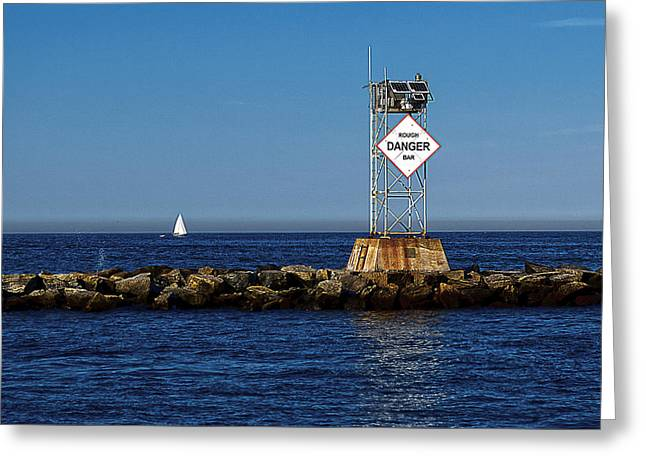 Sailboat Ocean Greeting Cards - Rough Bar Greeting Card by Rick Mosher