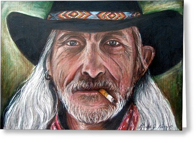 Old Man With Beard Greeting Cards - Rough Complexion Greeting Card by Linda Nielsen