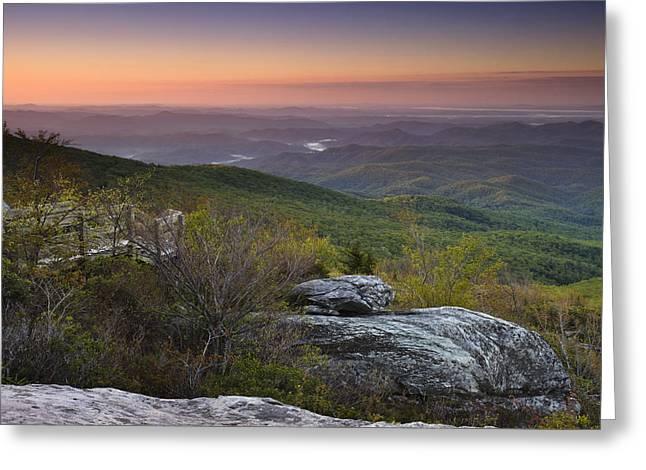 Peaceful Scenery Greeting Cards - Rough Ridge Dawn Greeting Card by Andrew Soundarajan