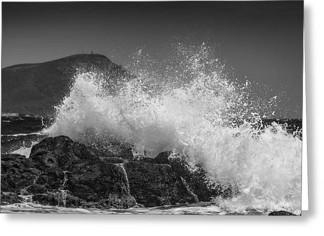 Europe Greeting Cards - Rough sea Greeting Card by Guido Montanes Castillo