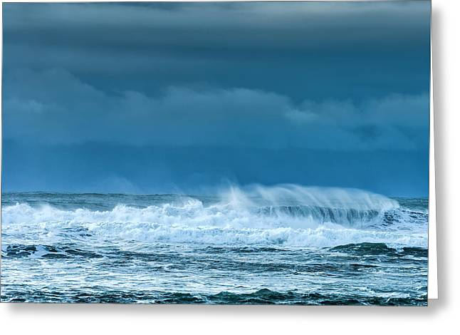 Rough Waters Off Iceland Greeting Card by Duane Miller