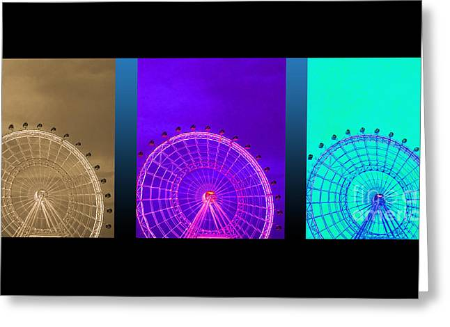 Amusements Greeting Cards - Round and Round Greeting Card by Linda Troski