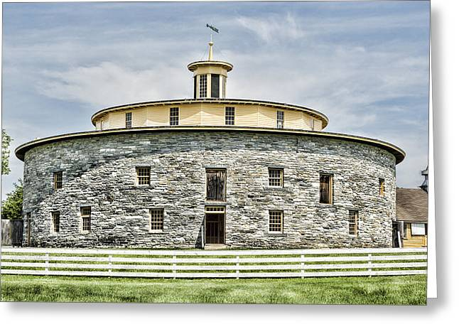 Round Barn Greeting Card by Stephen Stookey