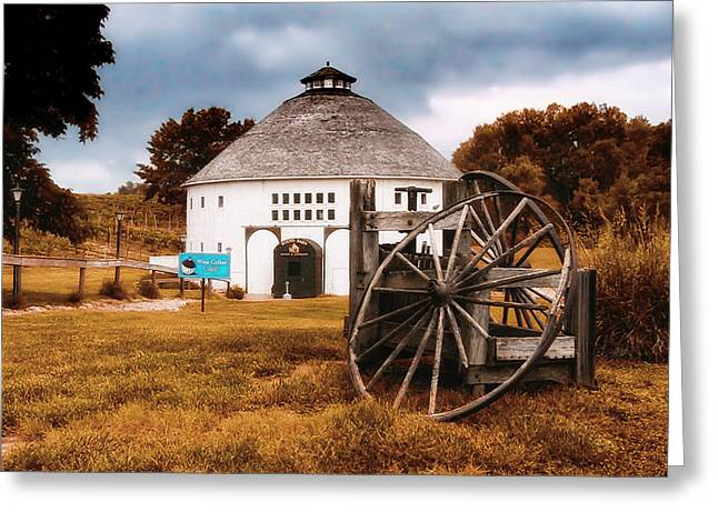 Round Barn Greeting Card by Thomas Woolworth