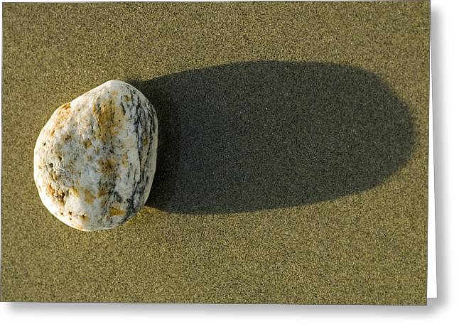 Big Sur California Greeting Cards - Round Rock And Shadow On Sand Dollar Greeting Card by Rich Reid