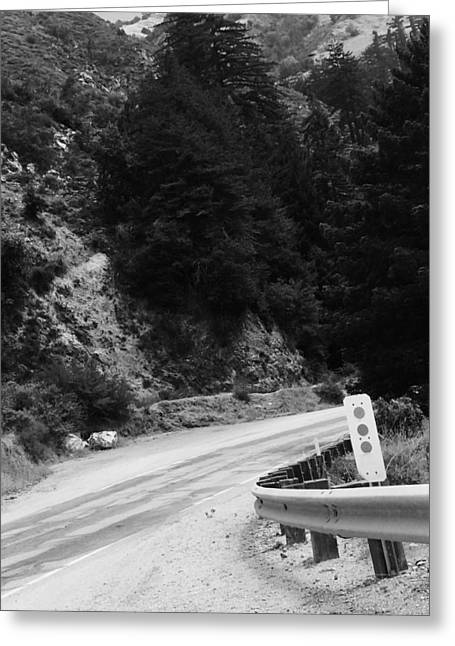 Big Sur Greeting Cards - Round The Bend Greeting Card by Aaron Ames