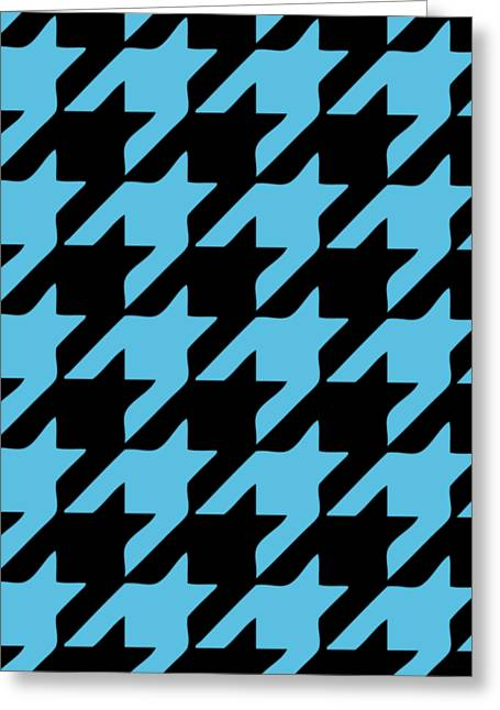 Hounds Tooth Greeting Cards - Rounded Houndstooth Black Background 05-P0123 Greeting Card by Custom Home Fashions