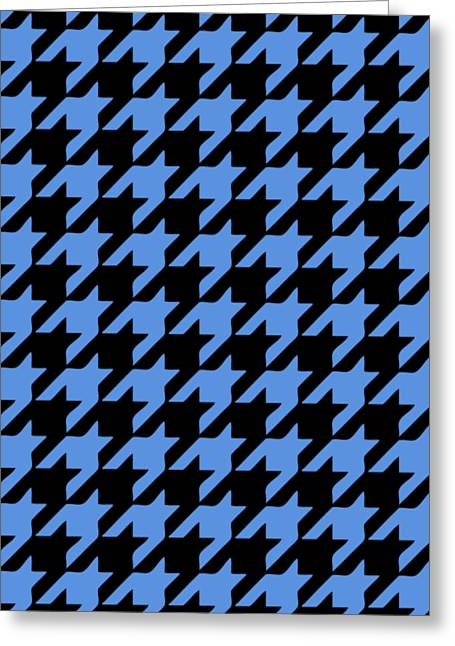 Hounds Tooth Greeting Cards - Rounded Houndstooth Black Background 09-P0123 Greeting Card by Custom Home Fashions