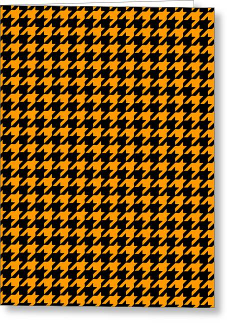 Hounds Tooth Greeting Cards - Rounded Houndstooth Black Background 18-P0123 Greeting Card by Custom Home Fashions
