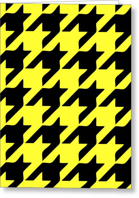 Hounds Tooth Greeting Cards - Rounded Houndstooth Black Pattern 05-P0123 Greeting Card by Custom Home Fashions