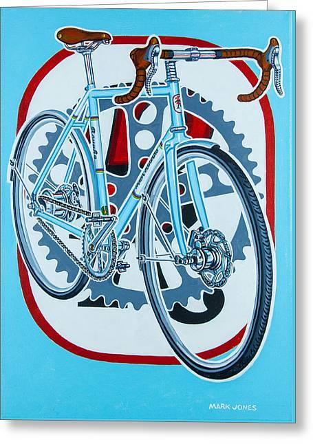 Rourke Bicycle Greeting Card by Mark Howard Jones