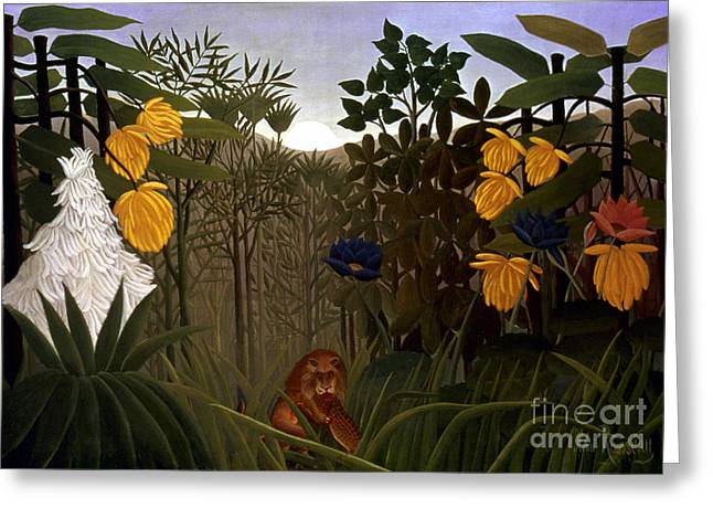 20th Greeting Cards - Rousseau: Lion Greeting Card by Granger