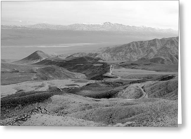 Panamint Valley Greeting Cards - Route 190 and the Panamint Valley Greeting Card by Troy Montemayor
