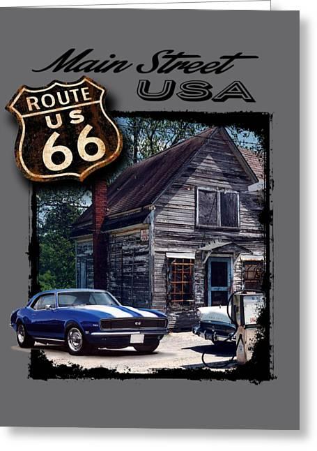 Route 66 Camaro Greeting Card by Paul Kuras